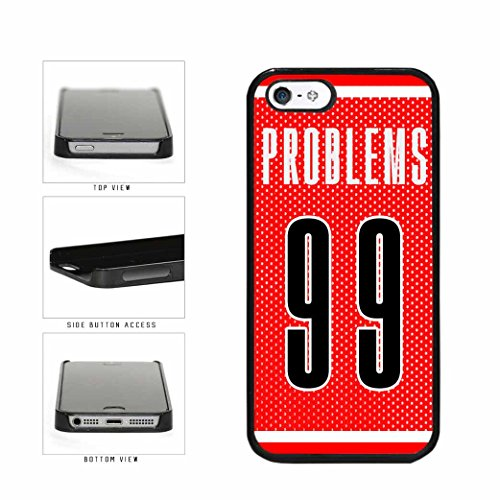 BleuReign(TM) Problems 99 Jersey Plastic Phone Case Back Cover Apple iPhone 5 5s and iPhone SE