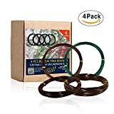 Bonsai Training Wire Set of 4 - Total 128 Feet(32 Feet Each Size) 3 Size - 1.0MM,1.5MM,2.0MM - Corrosion and Rust Resistant by Zelar Made