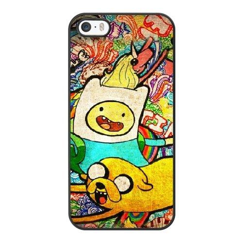Coque,Apple Coque iphone 5/5S/SE Case Coque, Generic Adventure Time Season 7 Cover Case Cover for Coque iphone 5 5S SE Noir Hard Plastic Phone Case Cover