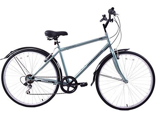 Professional Tourist Mens 700c Wheel Hybrid City Bike 22' Frame Green 6...