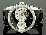 Aqua Master Diamond Automatic Black Mens Watch 1.75 ct w-317a