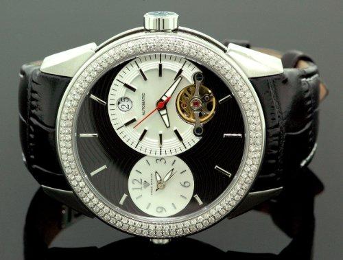 Aqua Master Diamond Automatic Black Mens Watch 1.75 ct w-317a by Aqua Master