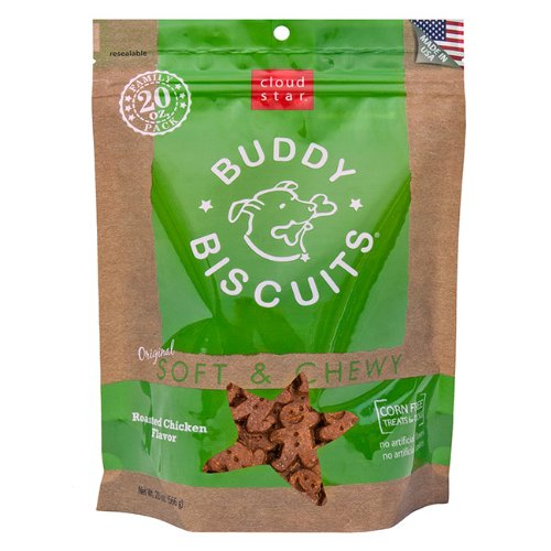 Cloud Star Original Soft and Chewy Buddy Biscuit, 20-Ounce, Roasted Chicken