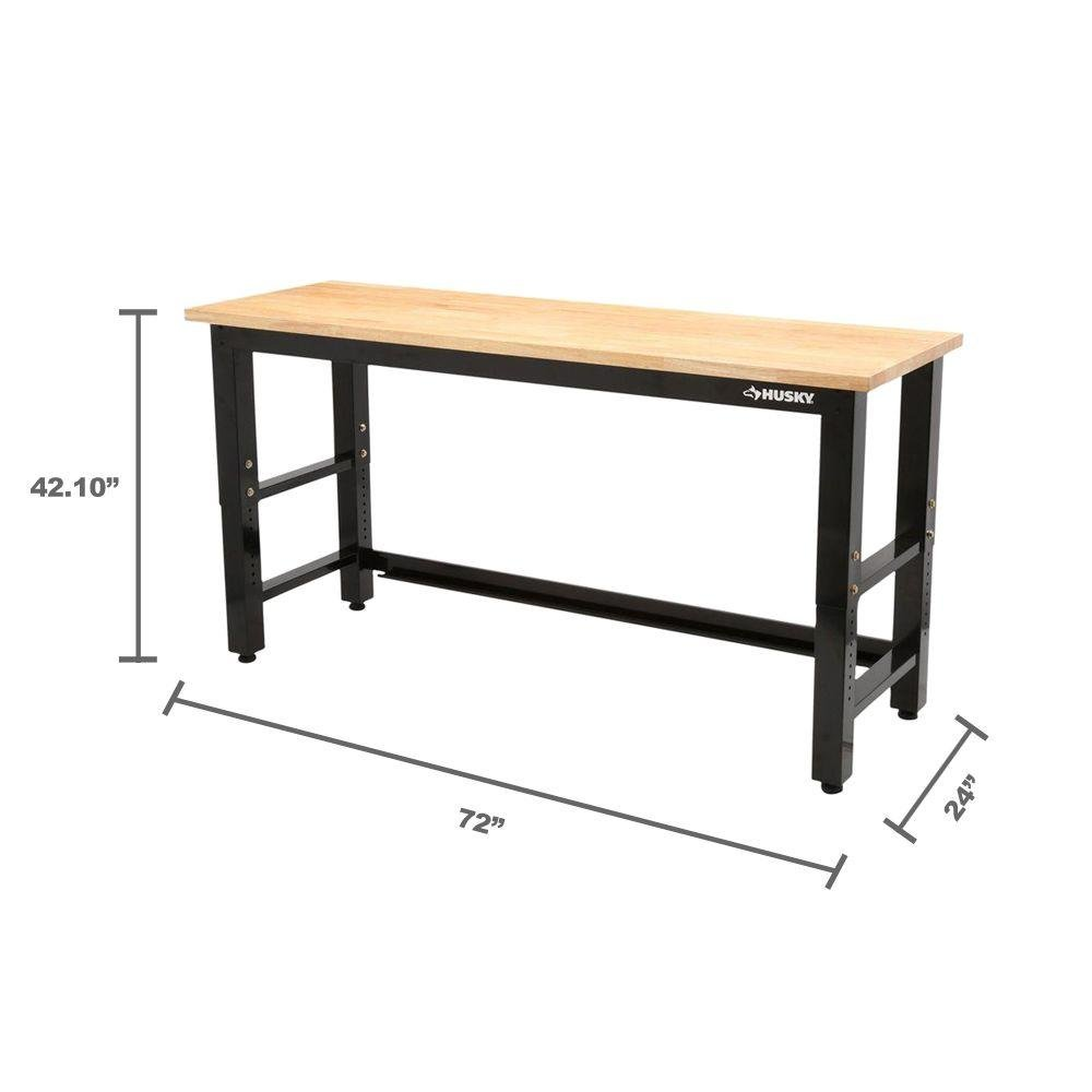 Tremendous Husky 6 Ft Solid Wood Top Workbench Caraccident5 Cool Chair Designs And Ideas Caraccident5Info