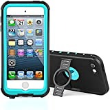 Waterproof Case for iPod 6/iPod 5, [New Release] Merit Knight Series Waterproof Shockproof Dirtproof Snowproof Case Cover with Kickstand for Apple iPod Touch 5th/6th Generation (Aqua Blue)