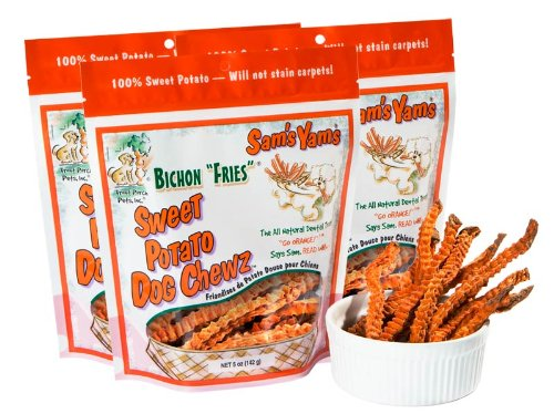 Sweet Potato Dog Chewz - 3 Pack - Regular Bichon Fries,5oz