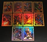 1994 Fleer Marvel Masterpieces GOLD HOLOFOIL Insert Set of 10 cards