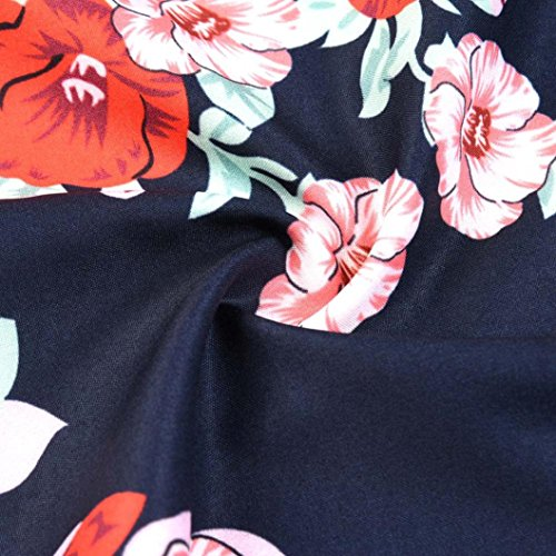 Partie Cou xxl J Ruché Guesspower Années Style Hepburn' Soirée Cocktail S Femme Slim Robe Moulante Impression Vintage De Mode Femmes Audrey Chic Jupe 1950s Classique Rouge V UzqVSpM