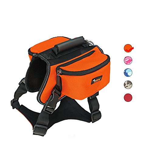 Dog Carried Backpack Hiking Travel Camping Outdoor Harness Backpack for Medium Large Dog by Ondoing