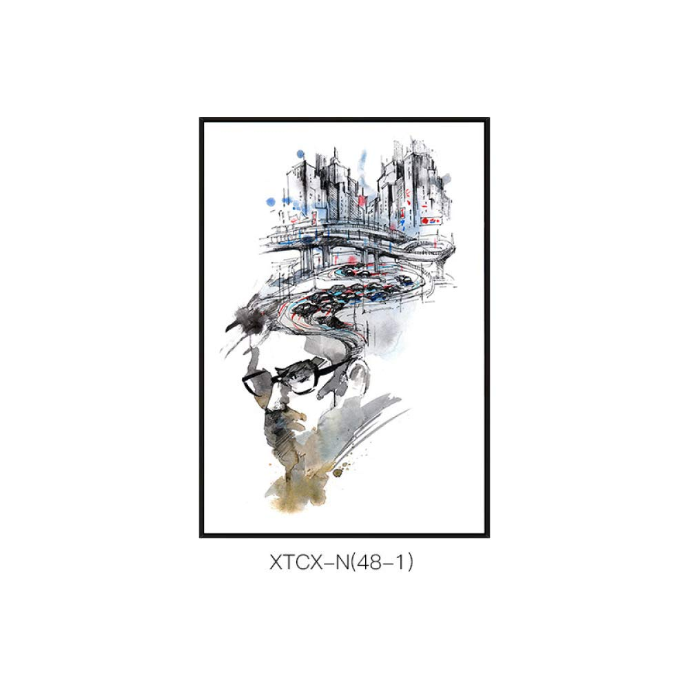 online al mejor precio CWJ Pinturas de Estilo nórdico, Patrones de de de Paisaje Abstracto, Pinturas Decorativas Creativas, Salas de Estilo de Pasarela de salón, Pinturas Individuales, murales de inyección de Tinta,B,50  70  ventas calientes