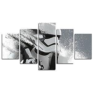YspgArt Lienzo de pintura impresa, 5 piezas Stormtrooper Star Wars película lienzo de pared pintura para el hogar, sala… 13