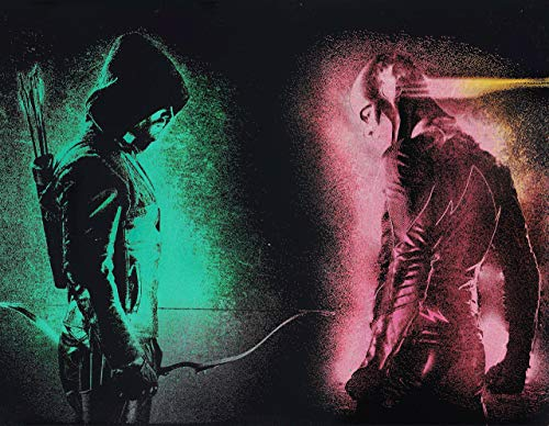 Green Arrow and Flash Painting on Metal Arrowverse CW DC Comics Justice League Spray Paint Art ()