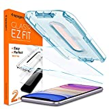 Electronics : Spigen Tempered Glass Screen Protector [Glas.tR EZ Fit] Designed for iPhone 11 / iPhone XR [6.1 inch] [Case Friendly] - 2 Pack