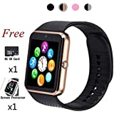 Smart Watch,Bluetooth Touch Screen Watch Phone for Android iPhone Pedometer Smartwatch Sport Wrist Watch Compatible Samsung iOS Men Women Kids
