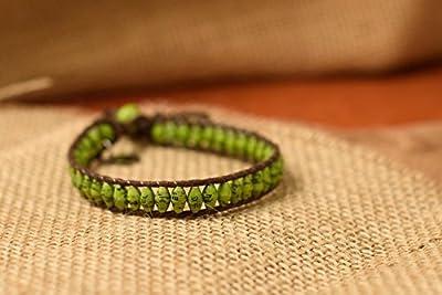 Ember Single Wrap Bracelet - Green