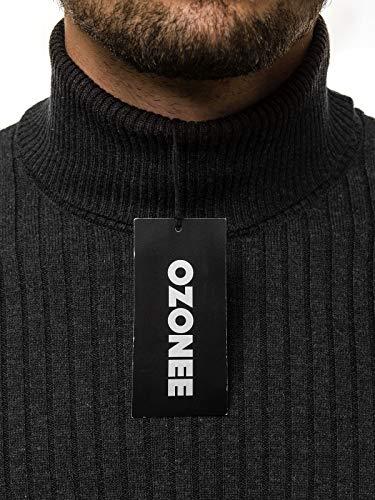 Colletto Maglia Pullover ozonee Fine B Scuro Moderno Tartaruga Grigio 1094s 1094s Maglione Uomo A Sweatshirt b Base Alto Collo Ozonee XPYxTf