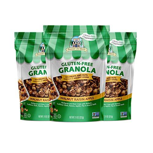 Bakery On Main Gluten-Free, Non GMO Granola, Walnut Raisin Apple, 11 Ounce (3 ()