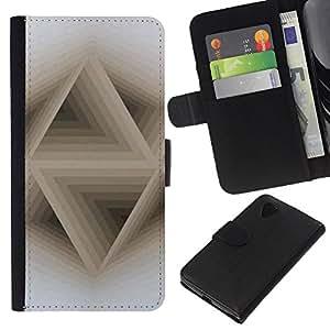 A-type (3D Abstract Beige White Pattern) Colorida Impresión Funda Cuero Monedero Caja Bolsa Cubierta Caja Piel Card Slots Para LG Nexus 5 D820 D821