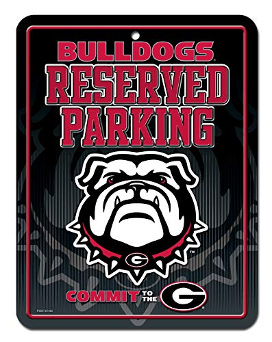 NCAA Georgia Bulldogs 8-Inch by 11-Inch Metal Parking Sign Décor