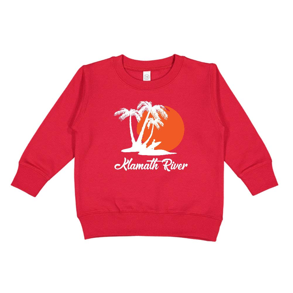 Klamath River Oregon California Beach Sunset Surfer Toddler//Kids Sweatshirt