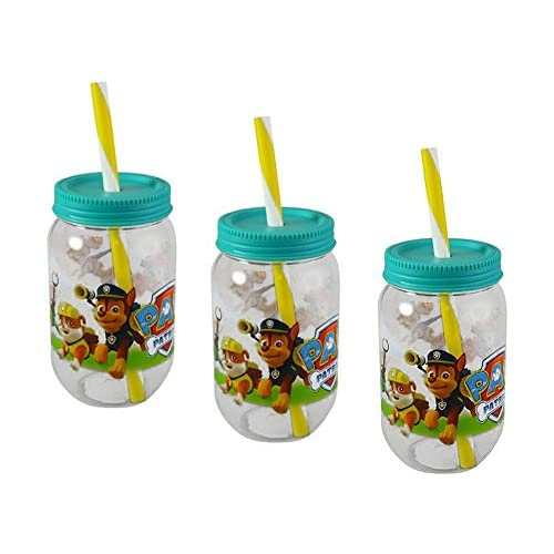 3-Pack Paw Patrol Canning Jar Tumblers with...