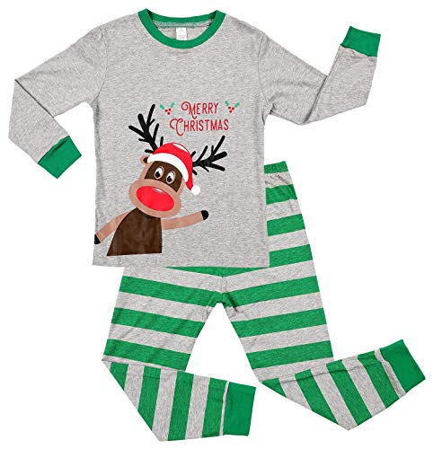 V FOR CITY Kids Christmas Pajama Sets Boys 3T Reindeer Xmas pjs Cotton Long Sleeve Xmas Jammies]()