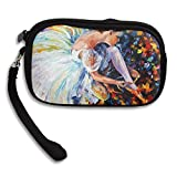 Ballet Dancer Colorful Art Deluxe Printing Small Purse Portable Receiving Bag