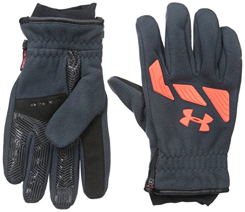 Under Armour Men's Storm ColdGear Infrared Convex Gloves, Stealth Gray /Bolt Orange, X-Large