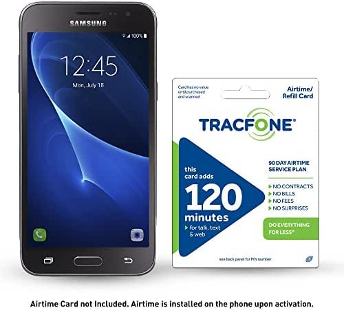 TracFone Samsung Galaxy J3 Sky 4G LTE Prepaid Smartphone with Free $30 Airtime Bundle