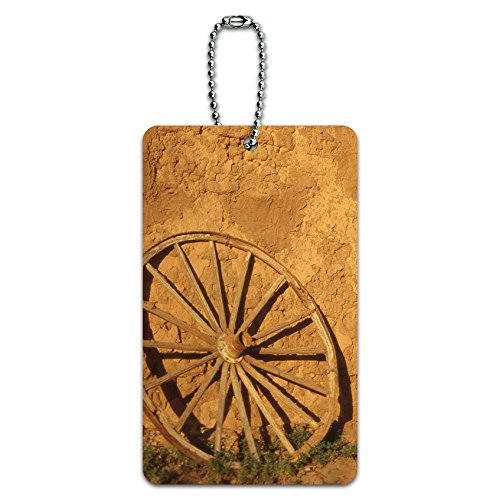 western-wagon-wheel-fort-union-southwest-new-mexico-id-tag-luggage-card-suitcase-carry-on