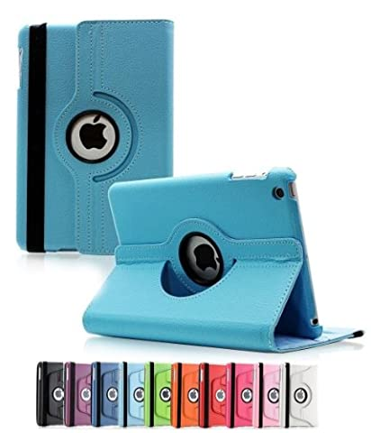 ShopNY Case - Apple iPad Air Case - 360 Degree Rotating Stand Case Cover with Auto Sleep / Wake Feature for iPad Air / iPad 5 (5th Generation) (Light (Cool Ipad Air Case)