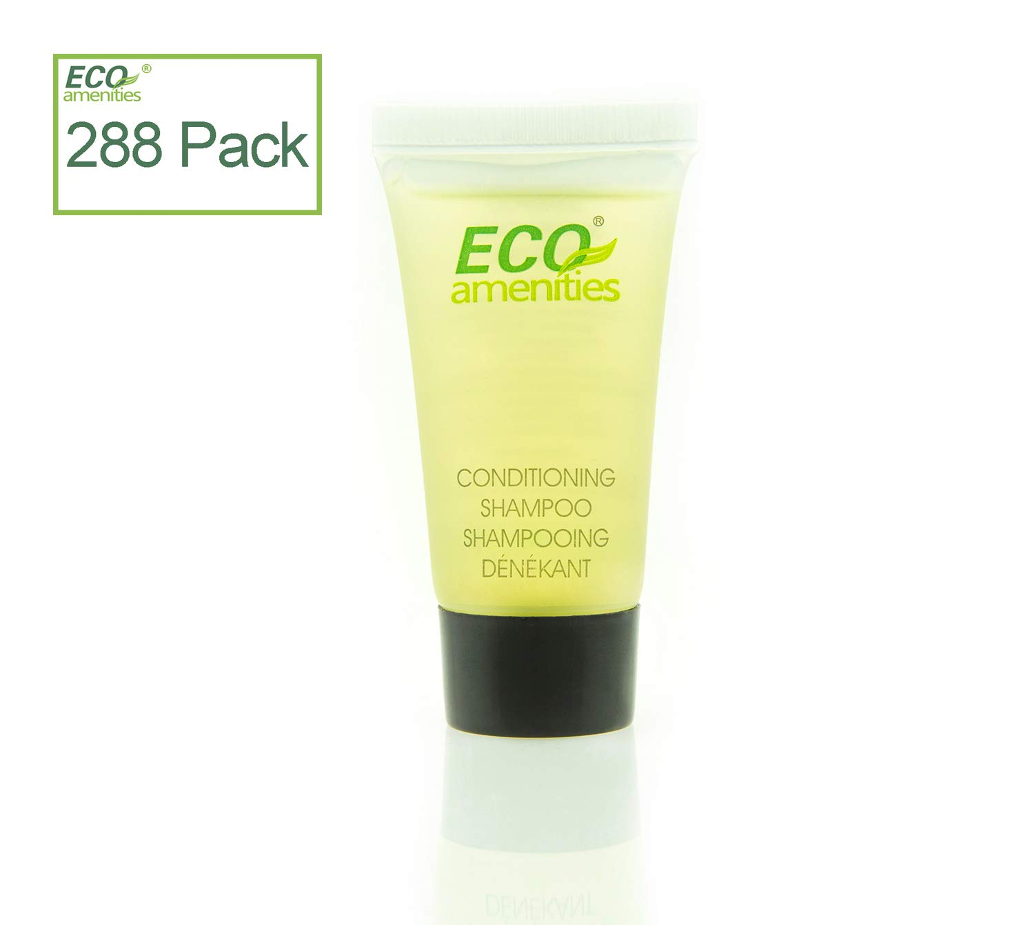 ECO AMENITIES Travel Size 0.75oz Hotel Shampoo and Conditioner Bulk, Clear, Green Tea, 288 Count Yang Zhou Eco-Amenities co. ltd 2-001