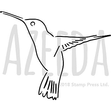 azeeda a4 hummingbird wall stencil template ws00006535 amazon