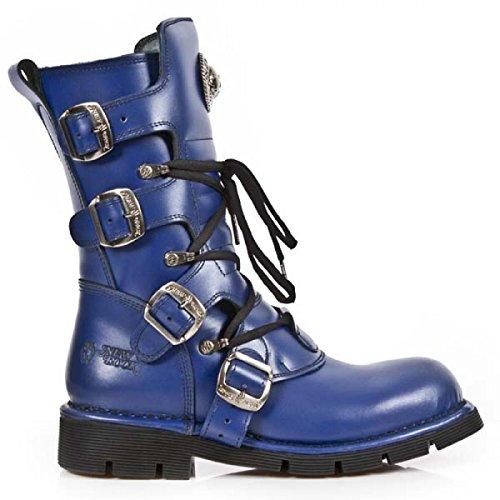 New Rock Støvler M.1473-c90 Gotisk Hardrock Punk Unisex Stiefel Blau 99oNG63mdM