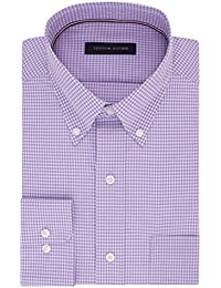 Men's Non Iron Regular Fit Gingham Buttondown Collar...