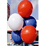 Reusable Balloon Cluster 5 Replacement Balloons 2 Red 2 Blue 1 White