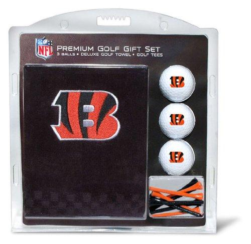 Team Golf NFL Cincinnati Bengals Gift Set Embroidered Golf Towel, 3 Golf Balls, and 14 Golf Tees 2-3/4
