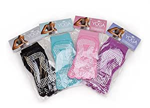 Deluxe Yoga Toe Socks with Slip-free Silicone Beads - Choose From 4 Colors!