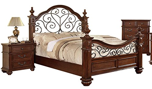 4 Oak Poster Bed (Trove Antique Dark Oak Four Poster Cal King Bed)