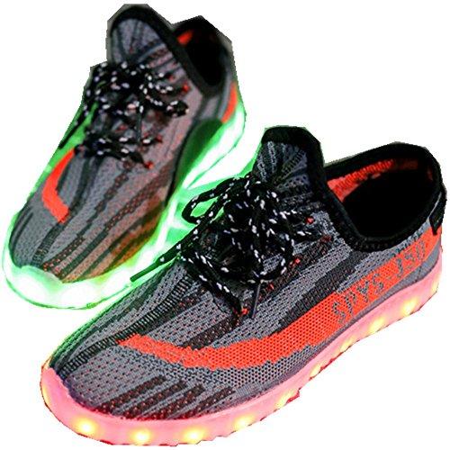 Southed Unisex USB Charging Light Up LED Shoes Flashing Sneakers(Orange 25/8.5 M US Toddler? (Orange Shox Shoes)