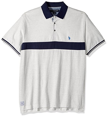 U.S. Polo Assn. Mens Classic Fit Color Block Short Sleeve Jersey Polo Shirt