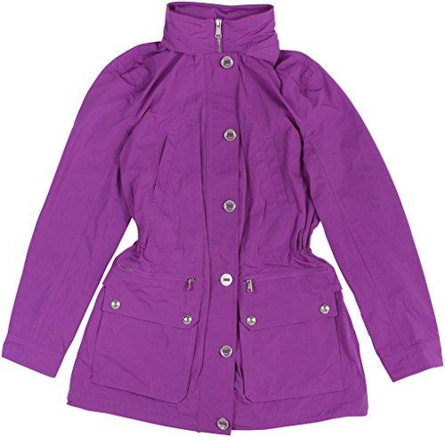 Ralph Lauren Mock Neck - Lauren Ralph Lauren Womens Hooded Mock Neck Basic Jacket Pink M