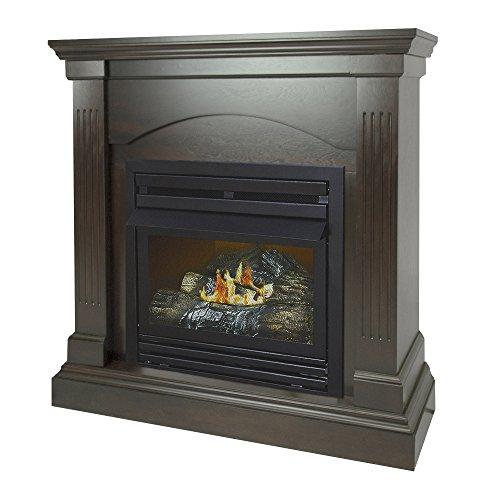 Pleasant Hearth 36 Compact Tobacco 20,000 Liquid Propane Vent Free Fireplace System 20K BTU, Rich
