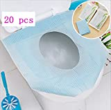 Babycola's Mum 20PCS Paper Toilet Seat Covers for travel-Disposable-Pocket Size