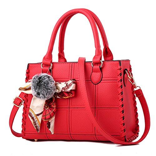 Ladies Handbags Handbags Messenger Bag Pu Leather Shoulder Bag Handbag Simple Large Capacity Network