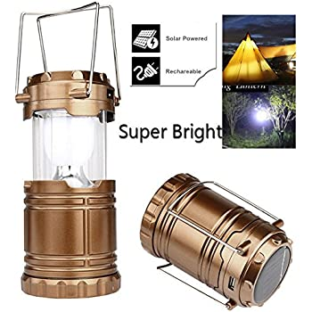 Super Bright Rechargeable Lantern Solar Camping Led Usb