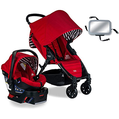 Britax Pathway & B-Safe 35 Travel System with Back Seat Mirror - Cabana ()