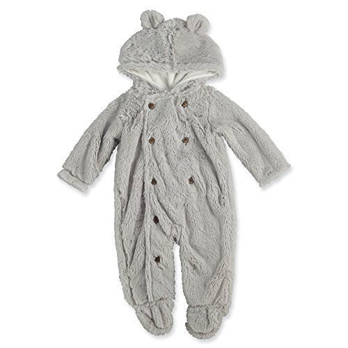 Mud Pie Little Deer Halloween Costume Baby Boy Bear Bunting, 0-6 Months Grey -