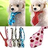 Pets Corner Market More Funny! Adjustable Dog Cat Teddy Pet Puppy Toy Grooming Bow Tie Necktie Clothes Honden Halsband Pet Collars Neckerchief (Blue)