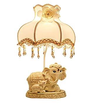 Tischlampe Elefant Basis Stoff Lampenschirm Led Lampe Fur Home